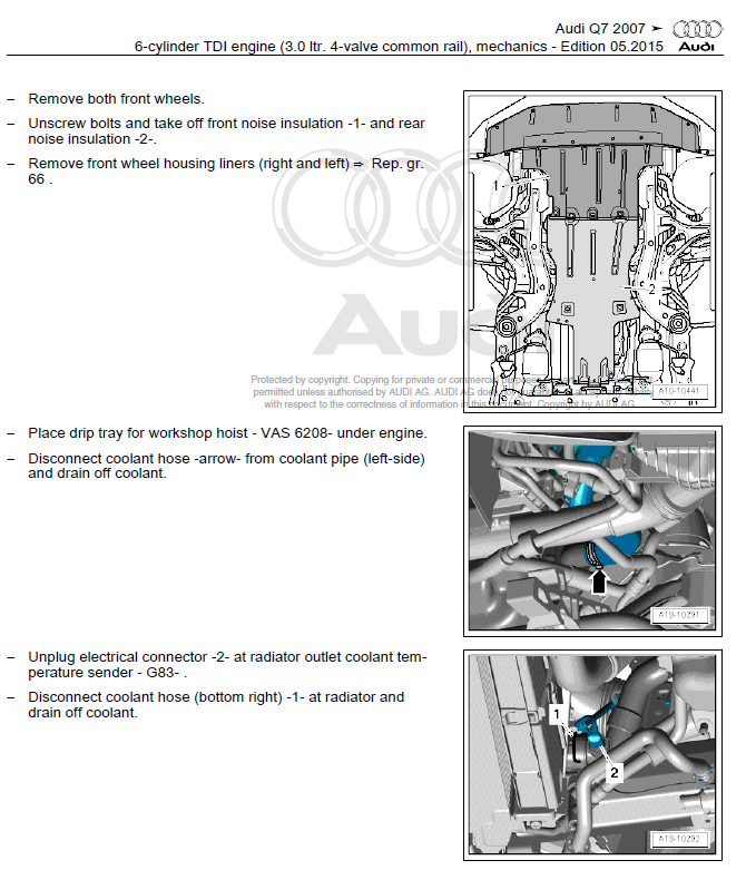audi q7 2005 2009 factory repair manual factory manual rh factory manuals com Audi Q7 Dimensions 2007 Audi Q7 Colors