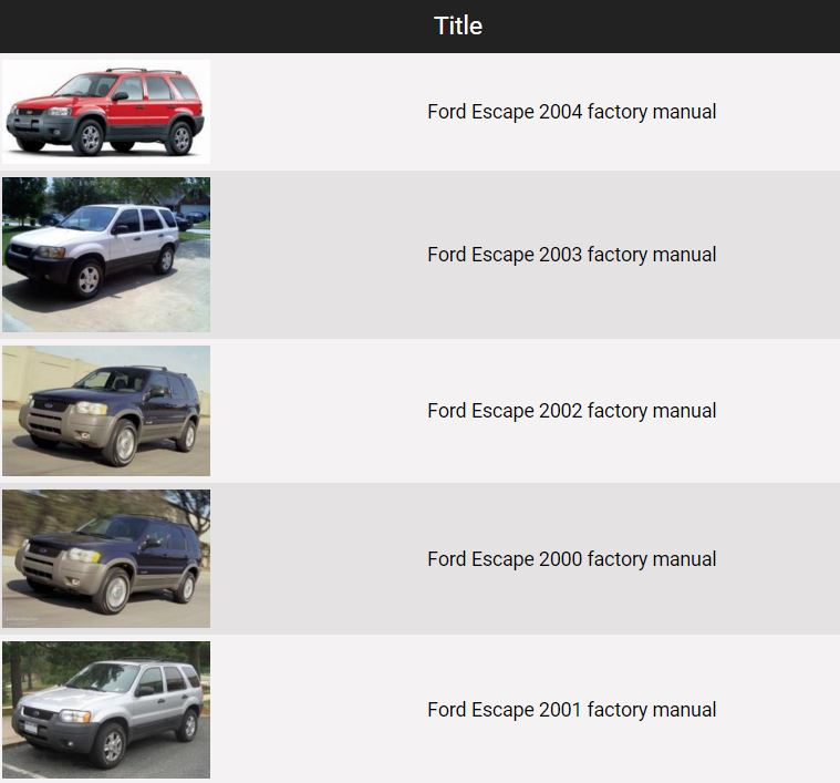 Ford Escape 2000 2001 2002 2003 2004 repair manual free manual 2002 ford escape repair manual free 28 images 2002 5.4 Wiring Harness Diagram at fashall.co