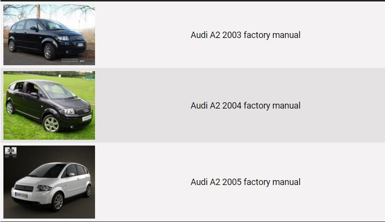 audi a2 2003 2004 2005 repair manual factory manual rh factory manuals com Audi TT Wiring Diagram PDF 2001 Audi A6 Wiring Diagrams PDF