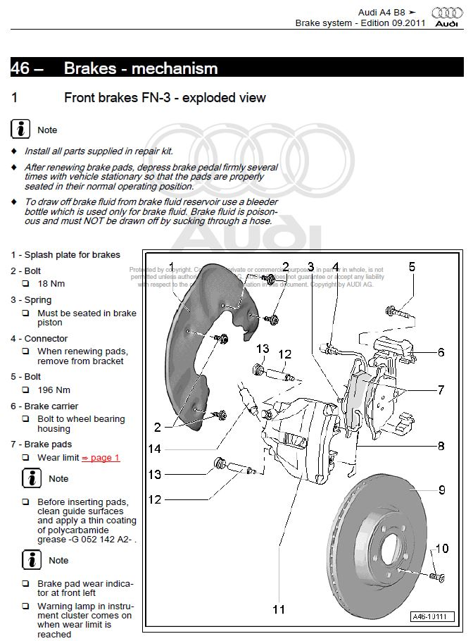 audi a4 b8 2008 2015 factory repair manual factory manual 2008 Audi A4 Engine Diagram at Bentley Audi A4 B8 Wiring Diagram