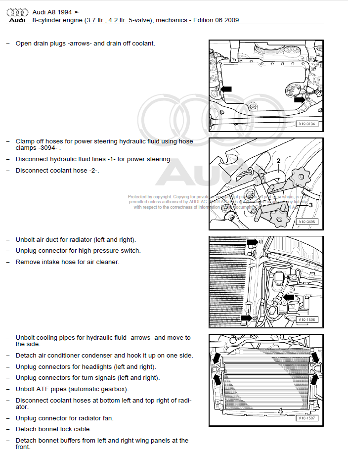 Audi A8 1994-2002 repair manual | Factory Manual