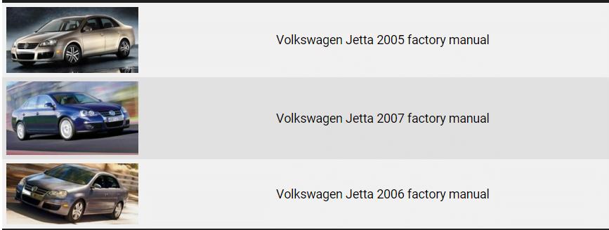 Volkswagen Jetta Repair Manual 2005