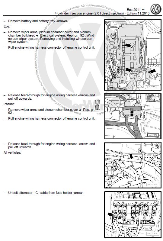 volkswagen eos 2011 2016 repair manual factory manual rh factory manuals com 1991 Volkswagen Passat Repair Manual VW Service Manuals