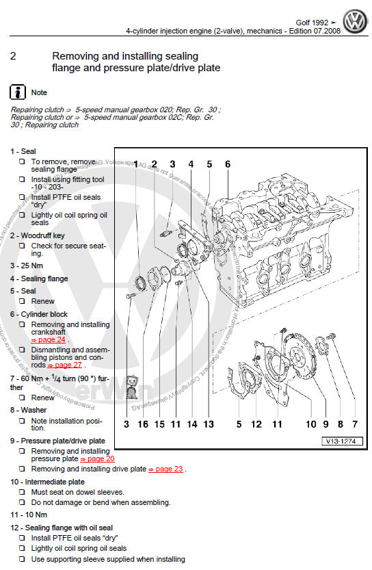 volkswagen golf 3 1992 1998 repair manual factory manual rh factory manuals com VW GTI TSI Engine Diagram 2002 VW Passat Engine Diagram