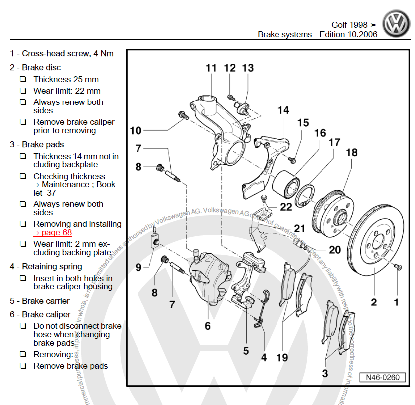 Volkswagen Golf 4 Iv 1998 1999 2000 2001 2002 2003 2004 2005 2006 Repair Manual on volkswagen passat