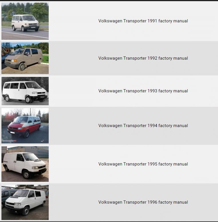 volkswagen transporter 1991 1996 repair manual factory manual rh factory manuals com volkswagen transporter t3 workshop manual pdf vw transporter t5 workshop manual pdf