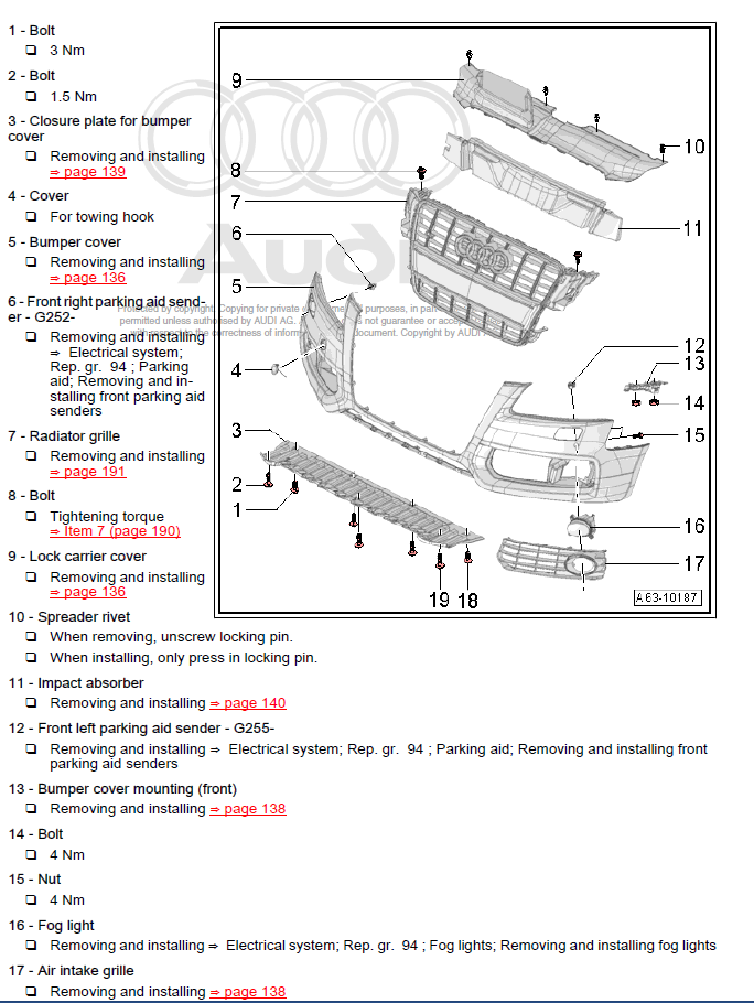 audi q7 2005 2009 factory repair manual