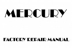 Mercury Mariner 2005-2007 factory repair manual