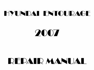 Hyundai Entourage repair manual