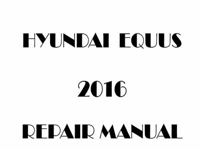 Hyundai Equus repair manual