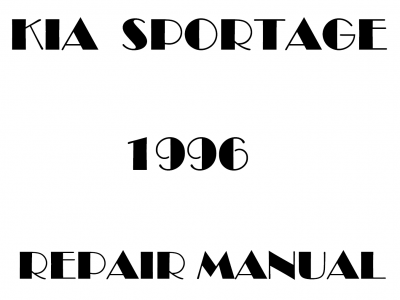 Kia Sportage Repair Manual
