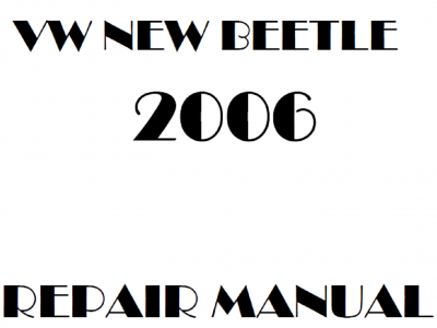 Volkswagen Beetle Repair Manual