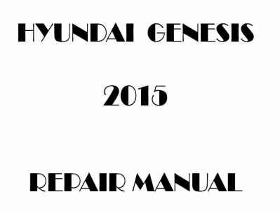 Hyundai Genesis repair manual