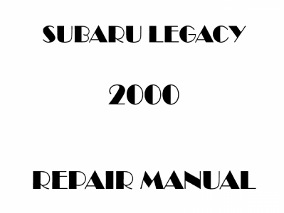 Subaru Legacy repair manual