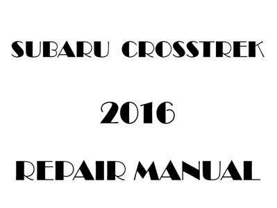 Subaru XV Crosstrek repair manual