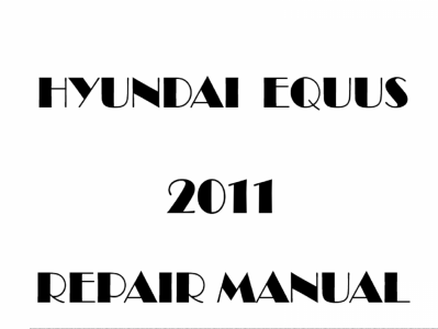Hyundai Equus repair manual