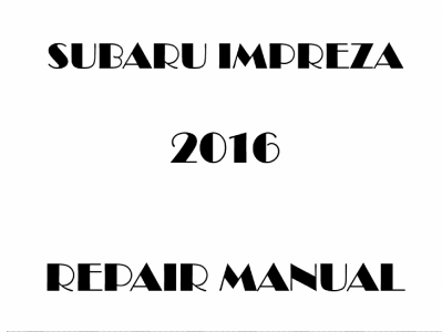 Subaru Impreza repair manual