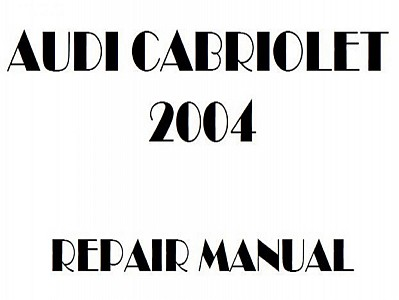 Audi Cabriolet repair manual