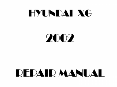 2002 Hyundai XG repair manual