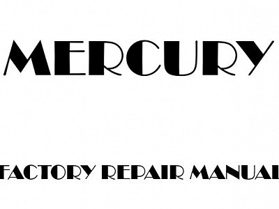 Mercury Villager Factory Manuals