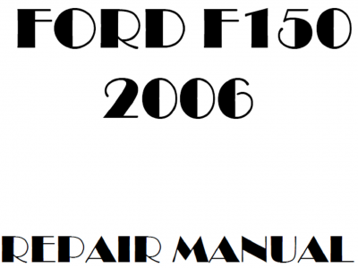 Ford F-150 Repair Manuals