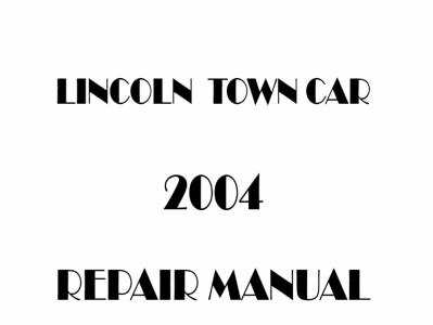 Lincoln Town Car repair manual