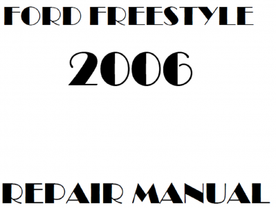 Ford Freestyle repair manuals