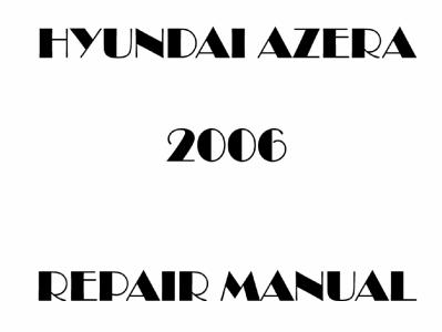 Hyundai Azera repair manual