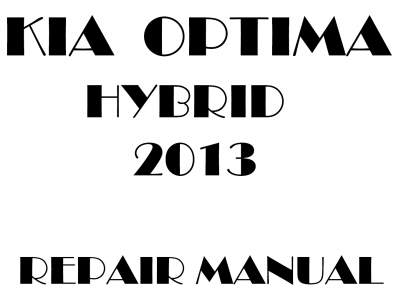 Kia Optima repair manual