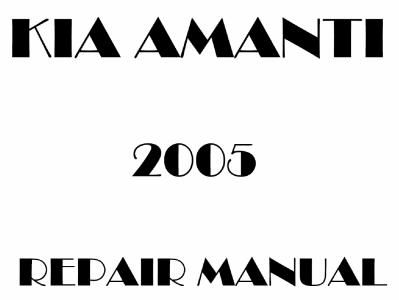 Kia Amanti repair manual