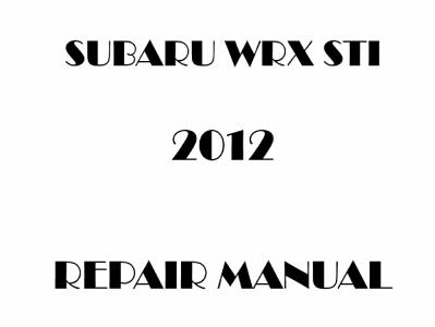 Subaru WRX WRX STi repair manual