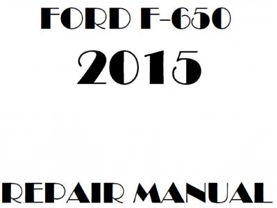2015 Ford F650 F750 repair manual
