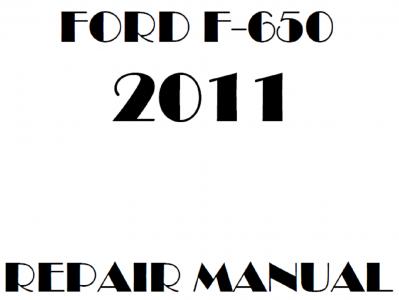 2011 Ford F650 F750 repair manual