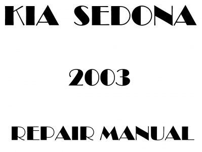 Kia Sedona repair manual
