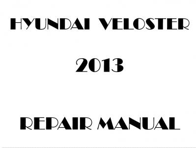 Hyundai Veloster repair manual