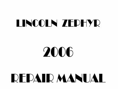 Lincoln Zephyr repair manual