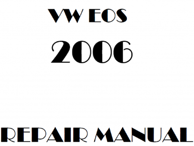 Volkswagen EOS repair manual