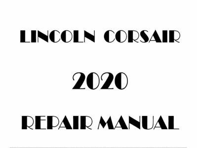 Lincoln Corsair repair manuals.