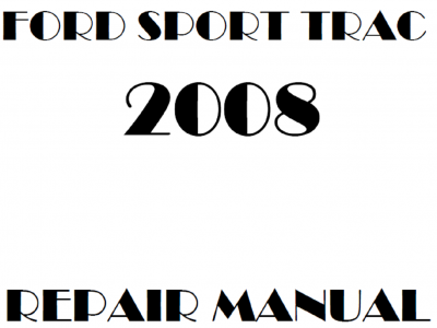 Ford Explorer Sport Trac Repair Manuals