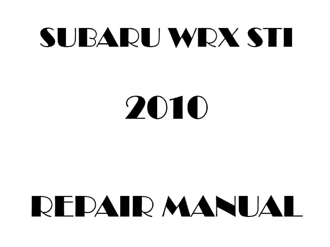 2010 Subaru Impreza Wrx Sti Repair Manual