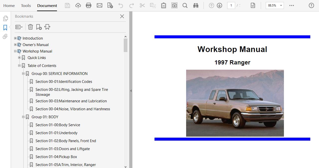 1999 Ford Ranger Repair Manual