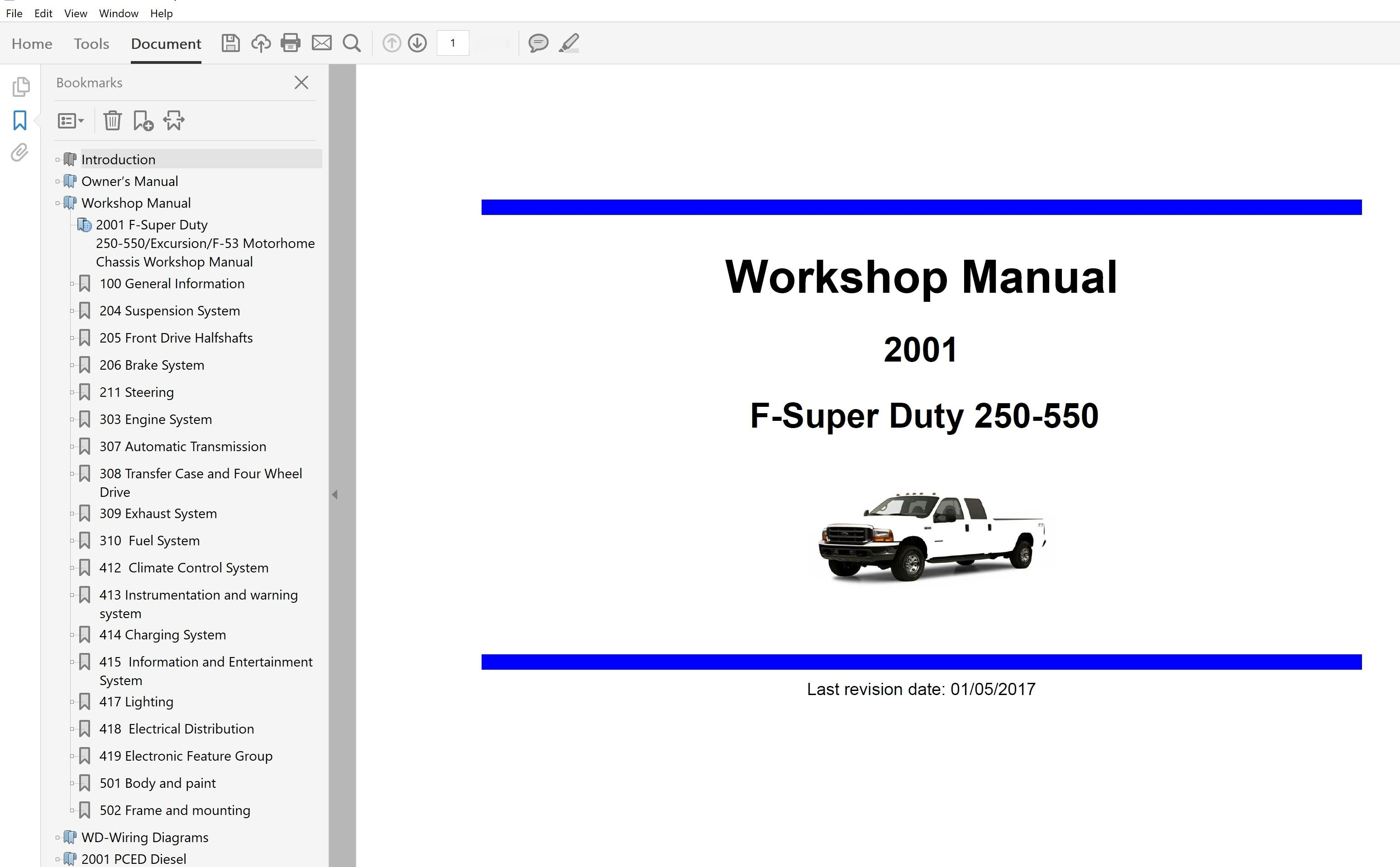 2001 Ford F250 F350 F450 F550 Repair Manual
