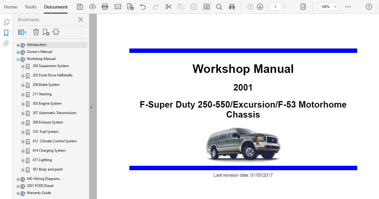 Automotive Manuals & Literature informafutbol.com EXCURSION 2005 ...