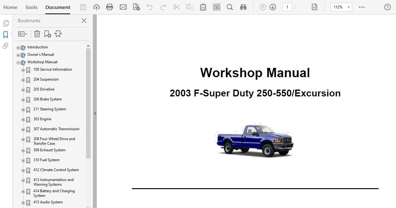 2003 Ford Excursion Repair Manual