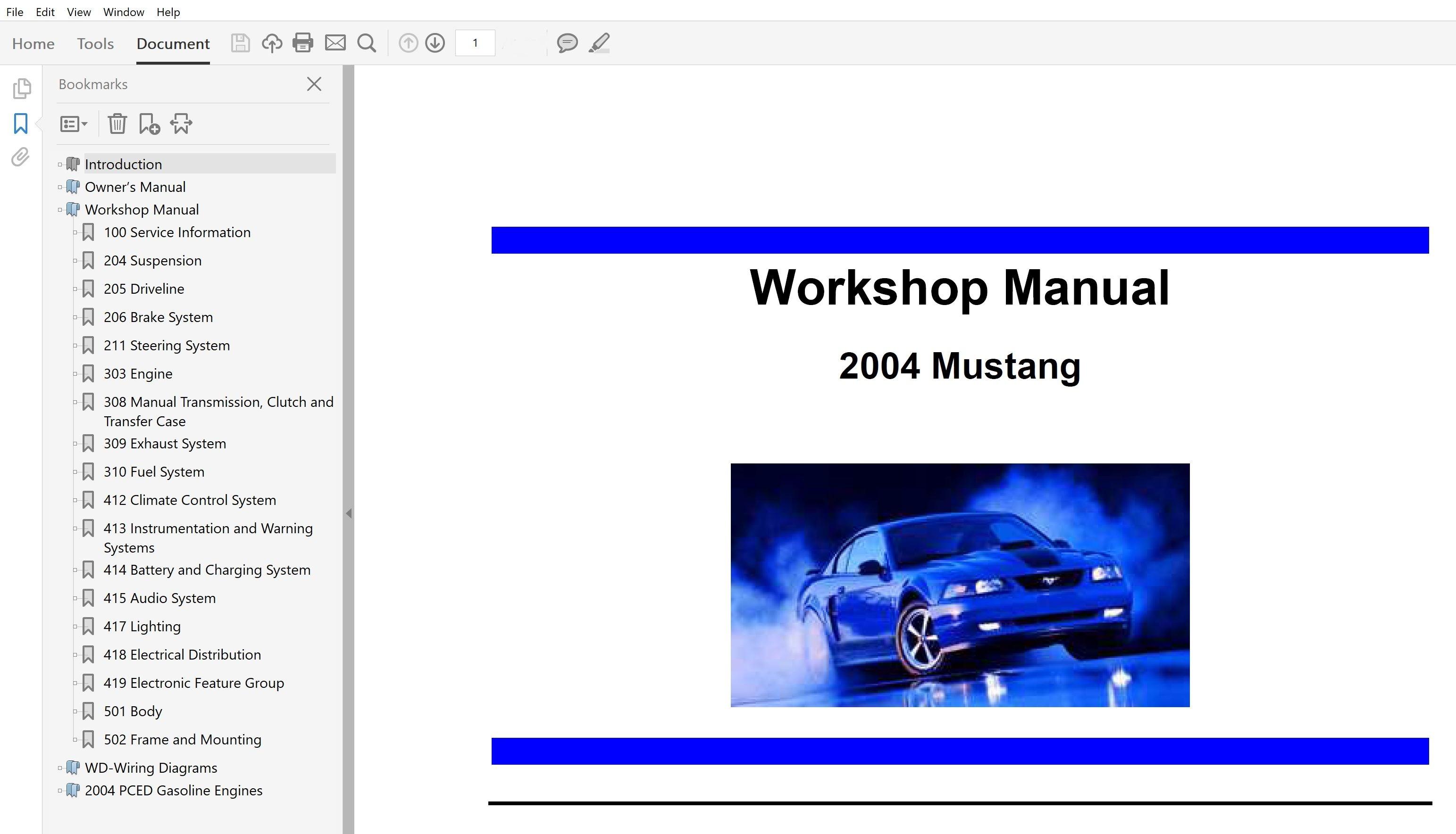 2004 Ford Mustang Repair Manual