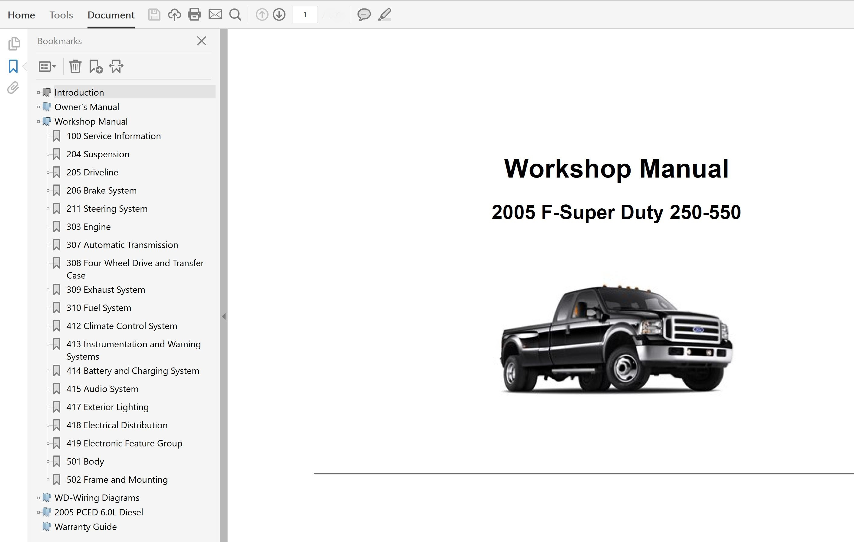2005 Ford F250 F350 F450 F550 Repair Manual
