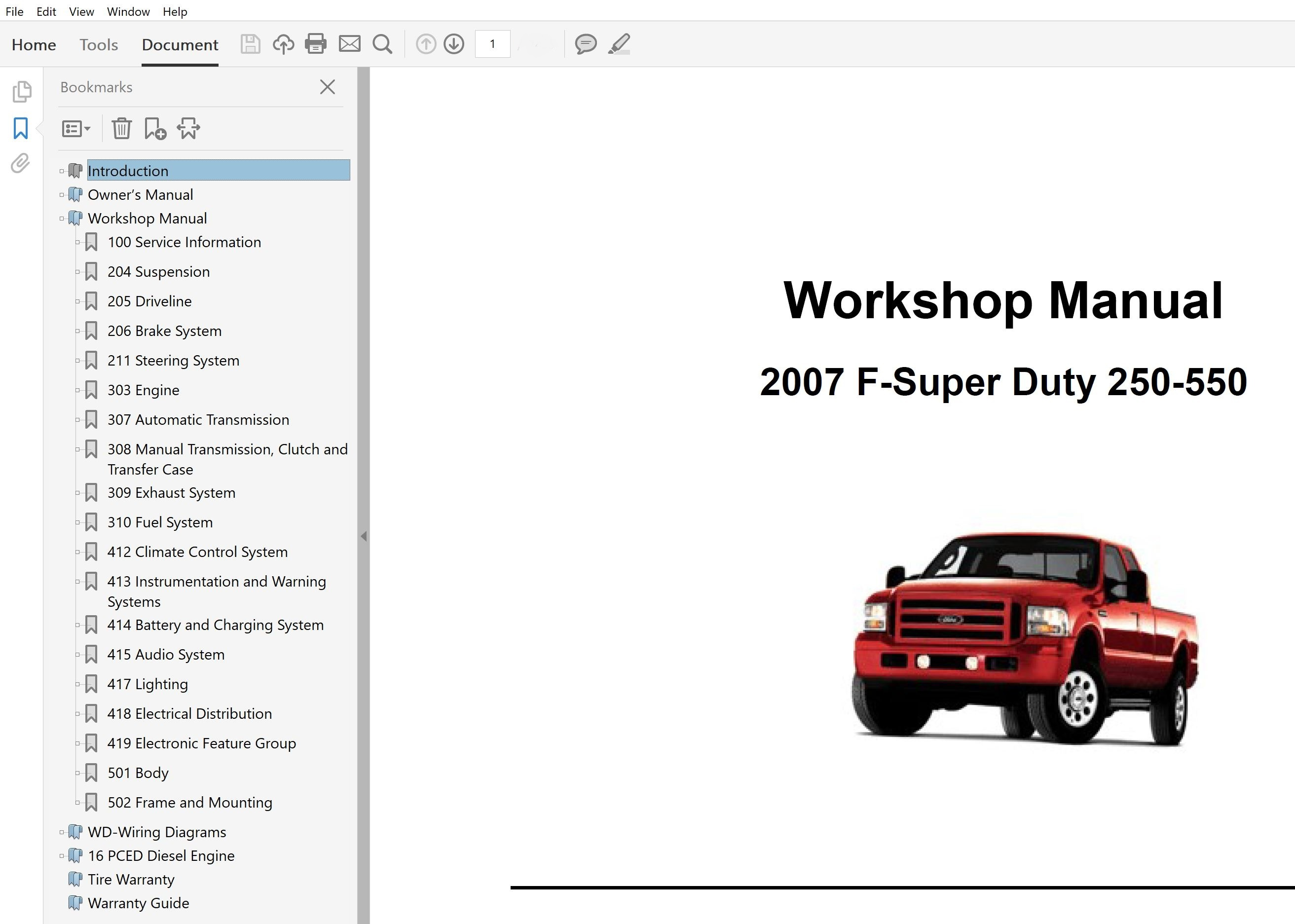 2007 Ford F250 F350 F450 F550 Repair Manual