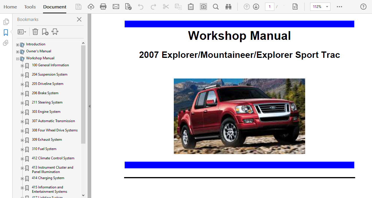 Diagram  2003 Ford Explorer Sport Trac Service Shop Manual Set Service Manual And The Wiring