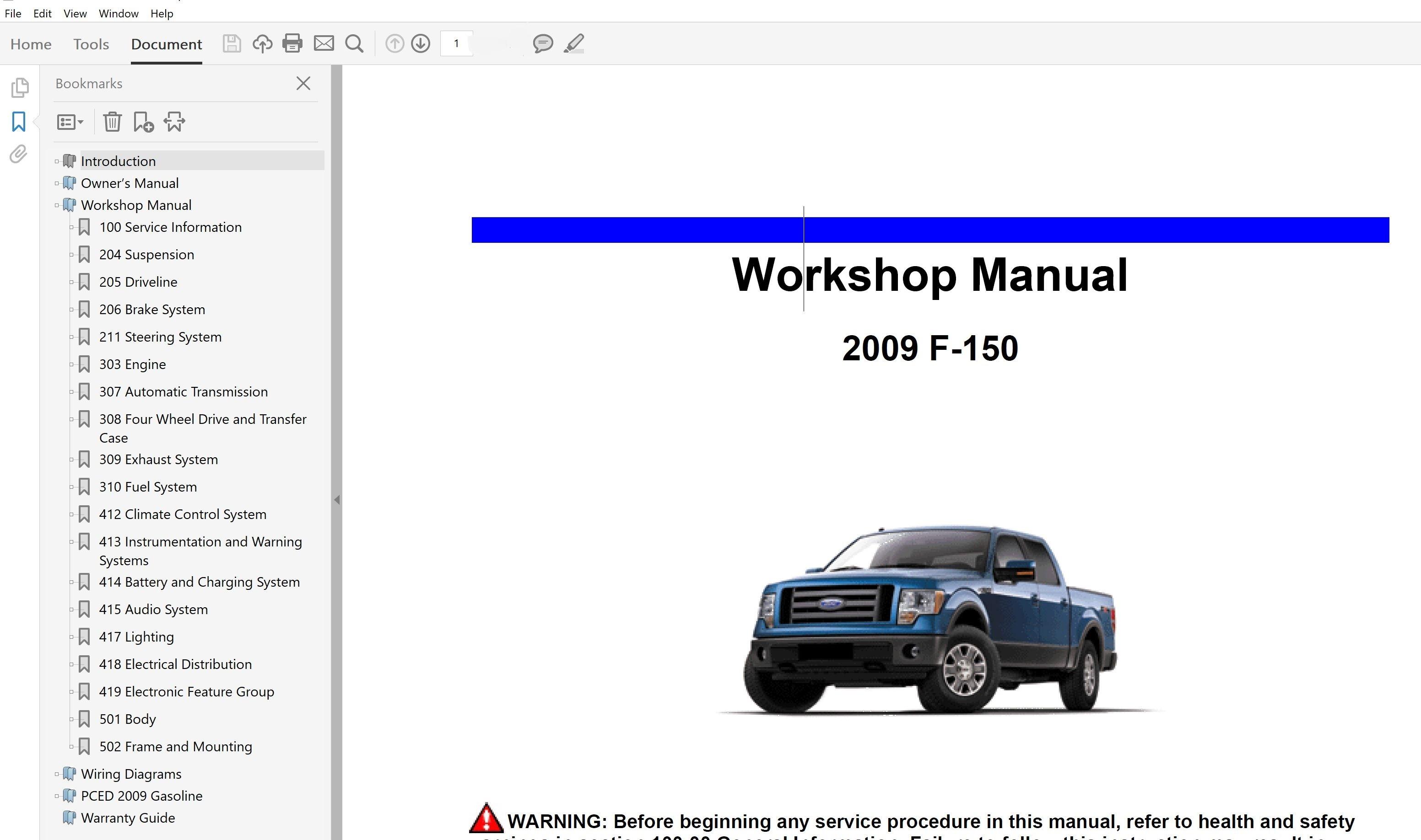 2009 Ford F150 Repair Manual