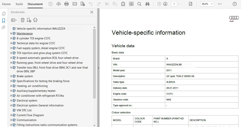 Audi Q7 2011 Repair Manual Manual Guide